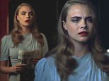 """30 January 2015 - Los Angeles - USA\n**** STRICTLY NOT AVAILABLE FOR USA ***\nBRITISH MODEL CARA DELEVINGNE STARS IN THIS SHORT CLIP """"NOTHING CAME TO ME"""" BY DONNIE TRUMPET AND THE SOCIAL EXPERIMENT\nDonnie Trumpet, Chance The Rapper and The Social Experiment collective have unveiled a mysterious new visual today, which in addition to promoting the Chicago crew's upcoming Surf album, lets us hear some smooth trumpet sounds from their resident trumpet player Nico Segal aka Donnie Trumpet.\nAs Chance said on twitter, """"This is scoring. It's called a Silent Film. You have to rely on music and expression acting."""" The short clip features model Cara Delevingne looking quite modest in a blue dress (perhaps set in the '50s). She's holding a newspaper as someone comes and whispers something in her ear. After looking frightened for a good second, she proceeds to walk towards the lights- which is when the clip ends\nXPOSURE PHOTOS DOES NOT CLAIM ANY COPYRIGHT OR LICENSE IN THE ATTACHED MATERIAL. A"""
