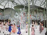 Models wear creations for Chanel 's Spring-Summer 2015 Haute Couture fashion collection, presented in Paris, France, Tuesday, Jan. 27, 2015. (AP Photo/Jacques Brinon)
