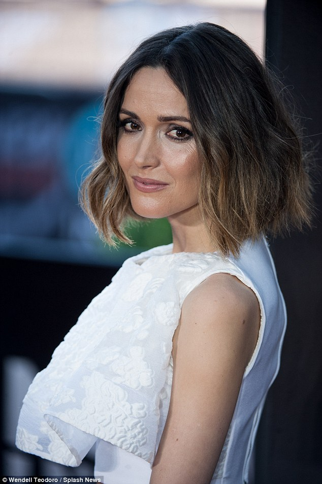 Last years winner: The House Of Cards talent has succeeded Australian beauty Rose Byrne, 35, who was awarded the plaudit in February 2014. She is pictured at the AACTA awards in January