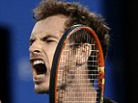 Andy Murray of Britain reacts to a lost point to Novak Djokovic of Serbia during the men's singles final at the Australian Open tennis championship in Melbourne, Australia, Sunday, Feb. 1, 2015. (AP Photo/Bernat Armangue)