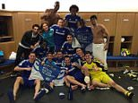 Changing room selfie Chelsea FC after beating Liverpool in Capital One Semi Final 27_01_15.jpg