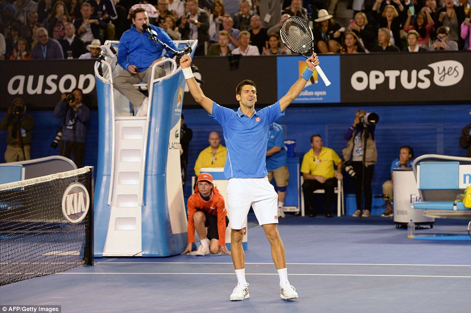 Novak Djokovic won his fifth Australian Open title on Sunday after beating Andy Murray in Melbourne