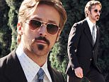 """Actor Ryan Gosling puts on a vintage suit for a scene on his new movie """"The Nice Guys"""" filming in West Holywood Ca.\nFeaturing: Ryan Gosling\nWhere: West Hollywood, California, United States\nWhen: 02 Feb 2015\nCredit: Cousart/JFXimages/WENN.com"""