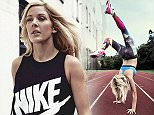 """Singer Ellie Goulding appears in this new advertising campaign for Nike. The Lights star, 28, shows off her physique for the exercise giant, and does handstands for the camera. """"I feel quite proud to be an ambassador for women who realize that being fit is better than being skinny,"""" she said. """"I like the fact that I can be that role model. I still think there's a little bit of work to do with promoting fit, not thin. But it's getting there."""" She has designed a new workout for Nike+ Training Club, and will appear in ad campaigns for the brand. Please credit Splash News/Nike.com  Pictured: Ellie Goulding for Nike Ref: SPL937002  020215   Picture by: Splash News/Nike.com  Splash News and Pictures Los Angeles: 310-821-2666 New York: 212-619-2666 London: 870-934-2666 photodesk@splashnews.com"""