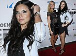 ADM_LEATHERANDLACESDAY2_MJT_39 Celebrities arrive at the 2015 Leather and Laces Super Bowl Party Day 2 at Bentley Project Center in Phoenix, AZ.  Pictured: Erin Heatherton, Adriana Lima Ref: SPL940790  310115   Picture by: AdMedia / Splash News  Splash News and Pictures Los Angeles: 310-821-2666 New York: 212-619-2666 London: 870-934-2666 photodesk@splashnews.com