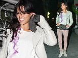 ***MANDATORY BYLINE TO READ INFPhoto.com ONLY*** Michelle Rodriguez dines at Madeo restaurant in Beverly Hills, California with friends.  Pictured: Michelle Rodriguez Ref: SPL941235  020215   Picture by: INFphoto.com