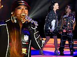 GLENDALE, AZ - FEBRUARY 01:  Recording artist Katy Perry and recording artist Missy Elliott perform onstage during the Pepsi Super Bowl XLIX Halftime Show at University of Phoenix Stadium on February 1, 2015 in Glendale, Arizona.  (Photo by Christopher Polk/Getty Images)