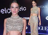 """Sao Paulo, SP - Brazilian supermodel Alessandra Ambrosio looks flawless as she poses for pictures during """"Festa da Vogue"""" Event held at Hotel Unique in Sao Paulo, Brazil.\n  \nAKM-GSI           February 6, 2015\nTo License These Photos, Please Contact :\n \n Steve Ginsburg\n (310) 505-8447\n (323) 423-9397\n steve@akmgsi.com\n sales@akmgsi.com\n \n or\n \n Maria Buda\n (917) 242-1505\n mbuda@akmgsi.com\n ginsburgspalyinc@gmail.com"""