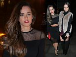 6 Feb 2015 - MANCHESTER - UK  CELEBS AT SAKUNA RESTAURANT BEFORE GOIN ONTO PARTY AT THE MARQUE NIGHT AT THE MILTON CLUB IN MANCHESTER  BYLINE MUST READ : XPOSUREPHOTOS.COM  ***UK CLIENTS - PICTURES CONTAINING CHILDREN PLEASE PIXELATE FACE PRIOR TO PUBLICATION ***  **UK CLIENTS MUST CALL PRIOR TO TV OR ONLINE USAGE PLEASE TELEPHONE   44 208 344 2007 **