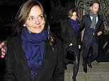 05.FEBRUARY.2015 - LONDON - UK *EXCLUSIVE ALL ROUND PICTURES* FORMER SPICE GIRL GERI HALLIWELL AND HER FORMULA ONE RACING DRIVER FIANCE CHRISTIAN HORNER LOOK LOVED UP AS THEY ARE SEEN LEAVING HARRY'S BAR IN MAYFAIR, LONDON, UK. GERI'S DIAMOND ENGAGEMENT RING WAS ON FULL SHOW! BYLINE MUST READ : XPOSUREPHOTOS.COM ***UK CLIENTS - PICTURES CONTAINING CHILDREN PLEASE PIXELATE FACE PRIOR TO PUBLICATION *** **UK CLIENTS MUST CALL PRIOR TO TV OR ONLINE USAGE PLEASE TELEPHONE 0208 344 2007**