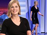 THE TONIGHT SHOW STARRING JIMMY FALLON -- Episode 0205 -- Pictured: Actress Rosamund Pike arrives on February 5, 2015 -- (Photo by: Douglas Gorenstein/NBC/NBCU Photo Bank via Getty Images)