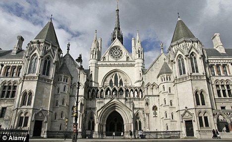 The Strand facade of the Royal Courts of Justice in London