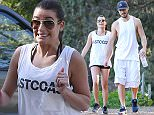 Lea Michele and boyfriend Matthew Paetz hiking in LA.  Pictured: Lea Michele and Matthew Paetz Ref: SPL922762  080215   Picture by: Camo / Splash News  Splash News and Pictures Los Angeles: 310-821-2666 New York: 212-619-2666 London: 870-934-2666 photodesk@splashnews.com