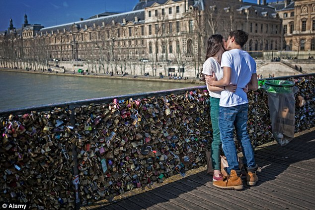Paris, featuring the love locks of the Pont des Arts (pictured), had the best dating scene