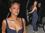 EXCLUSIVE: Rihanna left 1OAK night club in a great mood. The singer was looking stylish in a blue jumper, with a lot of hand jewellery.\n\nPictured: Rihanna\nRef: SPL945902  080215   EXCLUSIVE\nPicture by: TwisT / Splash News\n\nSplash News and Pictures\nLos Angeles: 310-821-2666\nNew York: 212-619-2666\nLondon: 870-934-2666\nphotodesk@splashnews.com\n