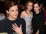 NO MAGAZINES IN THE UK OR OVERSEAS   Mandatory Credit: Photo by Richard Young /REX (4419089bh)  Amy Adams and Emma Watson  Charles Finch and Chanel Pre-BAFTA Dinner, Annabel's, London, Britain - 07 Feb 2015