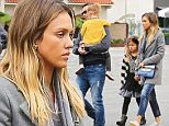 Brentwood, CA - Actress and Businesswoman Jessica Alba and her pretty family arrive for breakfast at a local eatery. Jess wore a gray coat, skinny jeans and patterned flats.\nAKM-GSI    February  8, 2015  \nTo License These Photos, Please Contact :\nSteve Ginsburg\n(310) 505-8447\n(323) 423-9397\nsteve@akmgsi.com\nsales@akmgsi.com\nor\nMaria Buda\n(917) 242-1505\nmbuda@akmgsi.com\nginsburgspalyinc@gmail.com
