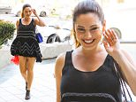 UK CLIENTS MUST CREDIT: AKM-GSI ONLY\nEXCLUSIVE: Kelly Brook is all smiles as she attends a business meeting in Santa Monica this afternoon.\n\nPictured: Kelly Brook\nRef: SPL944710  050215   EXCLUSIVE\nPicture by: AKM-GSI / Splash News\n\n