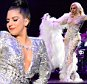 """LOS ANGELES, CA - FEBRUARY 08:  (Exclusive Coverage) Lady Gaga performs  onstage with Tony Bennett in support of their award winning album """"Cheek To Cheek"""" at The Wiltern on February 8, 2015 in Los Angeles, California.  (Photo by Kevin Mazur/Getty Images for Citi)"""