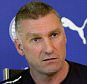LEICESTER, ENGLAND - FEBRUARY 09:  Leicester manager Nigel Pearson talks to the media during the Leicester City training press Conference at Belvoir Drive Training Ground on February 09, 2015 in Leicester, England.(Photo by Plumb Images/Leicester City FC via Getty Images)