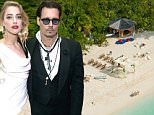 EXCLUSIVE: **STRICTLY NO WEB USAGE** The scene is set for Johnny Depp's paradisiacal wedding ceremony to actress Amber Heard on his private island of Little Hall's Pond Cay in the Caribbean - and it certainly looks like something from the movies. The 45-acre island, which he bought in 2004 for $3.6m while shooting the first Pirates of the Caribbean movie, looks just about ready for the grand event for family and friends, which comes days after the couple reportedly officially married in LA. Staff can be seen putting the last touches to a marquee laid out on one of the island's idyllic sandy beaches with the blue-green waters of the Caribbean behind it. Only 24 chairs are laid out in front of it, confirming reports that it will be a small ceremony. On another beach, 16 luxury cottage-like tents can be seen and are believed to have been set up over the last week to house the couple's guests. Another area appears to be ready for the guests, perhaps for the wedding reception meal, with a