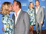 """Kevin Costner (R) and his wife Christine Baumgartner attend the World Premiere of """"McFarland, USA"""" duirng Closing Night of the 30th Annual Santa Barbara International Film Festival at Arlington Theatre on February 7, 2015 in Santa Barbara, California.  (Photo by C Flanigan/FilmMagic)"""