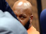 """COMPTON, CA - FEBRUARY 09:  Marion """"Suge"""" Knight attends Compton Court House for his bail hearing with his lawyer Brett Greenfield at Compton Courthouse on February 9, 2015 in Compton, California.  (Photo by David Buchan/Getty Images)"""