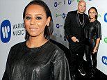 LOS ANGELES, CA - FEBRUARY 08:  Producer Stephen Belafonte (L) and recording artist Melanie Brown attend the Warner Music Group annual Grammy celebration at Chateau Marmont on February 8, 2015 in Los Angeles, California.  (Photo by Mike Windle/Getty Images for Warner Music Group)