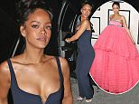 EXCLUSIVE: Rihanna left 1OAK night club in a great mood. The singer was looking stylish in a blue jumper, with a lot of hand jewellery.  Pictured: Rihanna Ref: SPL945902  080215   EXCLUSIVE Picture by: TwisT / Splash News  Splash News and Pictures Los Angeles: 310-821-2666 New York: 212-619-2666 London: 870-934-2666 photodesk@splashnews.com