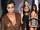 Mandatory Credit: Photo by Startraks Photo/REX (4081404hu).. Kendall Jenner, Kim Kardashian, Kylie Jenner.. MTV Video Music Awards Arrivals, Los Angeles, America - 24 Aug 2014.. ..