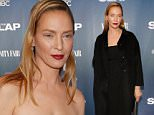 "NEW YORK, NY - FEBRUARY 09:  Actress Uma Thurman attends ""The Slap"" New York Premiere Party at The New Museum on February 9, 2015 in New York City.  (Photo by Robin Marchant/Getty Images)"