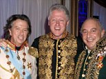 Mandatory Credit: Photo by REX (3548698ao)  Richard Caring, Bill Clinton and Phillip Green  Richard Caring's charity party, Katherine's Palace, St. Petersburg, Russia - 26 Nov 2005