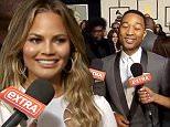 John Legend & Chrissy Teigen on Extra