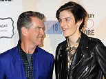 WEST HOLLYWOOD, CA - FEBRUARY 08:  Actor Pierce Brosnan (L) and model Dylan Brosnan attend the Sunset Marquis Hotel and Rock Against Trafficking GRAMMY After Party at Sunset Marquis Hotel & Villas on February 8, 2015 in West Hollywood, California.  (Photo by Allen Berezovsky/Getty Images)