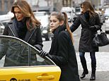 EXCLUSIVE: Cindy Crawford hails a cab on Madison Avenue in New York City.  Pictured: Cindy Crawford Ref: SPL945193  070215   EXCLUSIVE Picture by: Splash News  Splash News and Pictures Los Angeles: 310-821-2666 New York: 212-619-2666 London: 870-934-2666 photodesk@splashnews.com