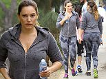 UK CLIENTS MUST CREDIT: AKM-GSI ONLY EXCLUSIVE: Kelly Brook went for a hike in Runyon Canyon on Saturday afternoon with her best friend Natalie Loren. The beautiful Brit has been trying to maintain her newly slimmed down frame after getting cast as the lead alongside Elisha Cuthbert in the new sitcom 'One Big Happy.'  Pictured: Kelly Brook Ref: SPL945363  070215   EXCLUSIVE Picture by: AKM-GSI / Splash News