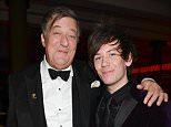 Mandatory Credit: Photo by Richard Young/REX (4419632s)  Stephen Fry and Elliot Spencer  The Weinstein Company, Entertainment Film Distributors, Studiocanal 2015 BAFTA after party in partnership with Jimmy Choo & Grey Goose at Rosewood London, London, Britain - 08 Feb 2015