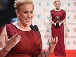 Patricia Arquette with the award for Best Supporting Actress (Boyhood) in the Press Room at the EE British Academy Film Awards 2015 held at the Royal Oprah House House in Covent Garden, London UK.