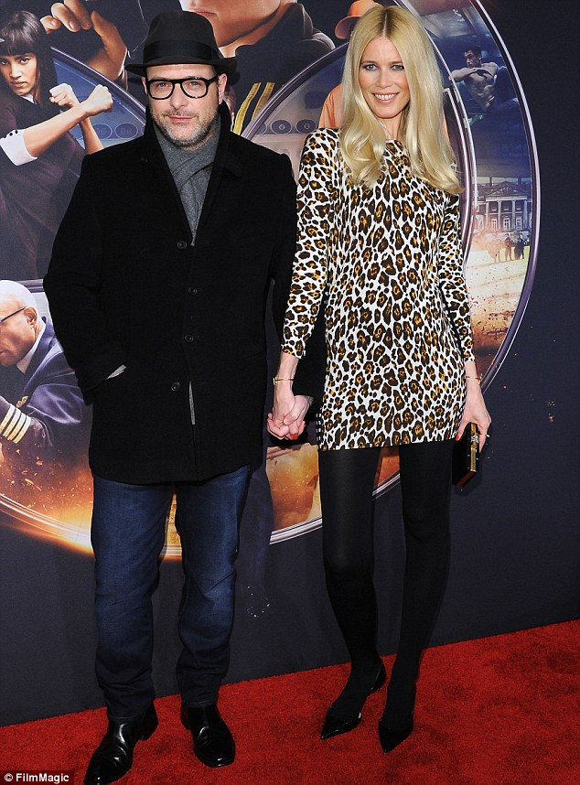Feline on the loose! Claudia Schiffer and director husband Matthew Vaughn attended the premiere of Kingsman: The Secret Service in New York City on Monday