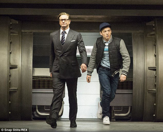 Seriously funny: Colin Firth plays a Secret Service chief who recruits a rough yet promising street kid (Targon Egerton) into his spy organisation