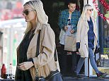UK CLIENTS MUST CREDIT: AKM-GSI ONLY EXCLUSIVE: Young couple Ashlee Simpson and Evan Ross paid a visit to their doctor before grabbing breakfast at trendy Cafe La Conversation. Ashlee Simpson kept her growing baby bump under wraps as she covered up in a beige coat over a grungy style plaid shirt, skinny ripped trousers and boots, matching her Givenchy tote bag.  Pictured: Ashlee Simpson and Evan Ross Ref: SPL947536  090215   EXCLUSIVE Picture by: AKM-GSI / Splash News