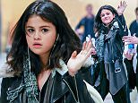 09.FEBRUARY.2015 - ATLANTA - USA *** EXCLUSIVE ALL ROUND PICTURES AVAILABLE FOR UK SALE ONLY *** AMERICAN ACTRESS AND STAR OF 'THE REVISED FUNDAMENTALS OF CAREGIVING' SELENA GOMEZ SEEN RETURNING TO GEORGIA TO FINISH FILMING. SELENA LOOKED IN A CHIPPER MOOD AFTER RETURNING FROM FILMING A MUSIC VIDEO WITH HER RUMOURED BOYFRIEND ZEDD. BYLINE MUST READ : XPOSUREPHOTOS.COM ***UK CLIENTS - PICTURES CONTAINING CHILDREN PLEASE PIXELATE FACE PRIOR TO PUBLICATION *** *UK CLIENTS MUST CALL PRIOR TO TV OR ONLINE USAGE PLEASE TELEPHONE 0208 344 2007*