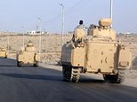 The Egyptian military has poured troops and armour into the Sinai peninsula