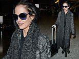Mandatory Credit: Photo by REX (4422456b)  Eva Green  Eva Green at Heathrow Airport, London, Britain - 09 Feb 2015