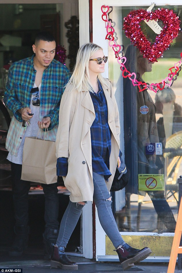 Morning cravings? Ashlee Simpson was seen grabbing an early morning breakfast with her husband Evan Ross at the trendy Cafe La Conversation in Hollywood, on Monday