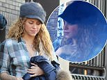 EXCLUSIVE: EXCLUSIVES PICTURES Barcelona, SPA, 09, February 2015.- Singer Shakira, Tonino (Shakira's brother) and son Milan seen walking home from school in Barcelona. Shakira's first appearance after gives birth to second child, Sasha.  Pictured: Shakira, Milan, Tonino Ref: SPL946353  090215   EXCLUSIVE Picture by: Splash News  Splash News and Pictures Los Angeles: 310-821-2666 New York: 212-619-2666 London: 870-934-2666 photodesk@splashnews.com