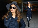 Mandatory Credit: Photo by REX (4422423c)  Nicole Scherzinger  Nicole Scherzinger at Heathrow Airport, London, Britain - 09 Feb 2015  Nicole Scherzinger boarded a BA flight from Heathrow to Delhi