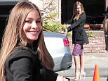 132431, Sofia Vergara and Sarah Hyland shooting scenes for Modern Family. Los Angeles, California - Monday February 9, 2015. Photograph: KVS/Gaz Shirley, © PacificCoastNews. Los Angeles Office: +1 310.822.0419 sales@pacificcoastnews.com FEE MUST BE AGREED PRIOR TO USAGE