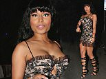 EXCLUSIVE: Nikki Minaj attends House of Blues to see Big Sean's performance in Los Angeles, CA.  Pictured: Nikki Minaj Ref: SPL945886  080215   EXCLUSIVE Picture by: TwisT / Splash News  Splash News and Pictures Los Angeles: 310-821-2666 New York: 212-619-2666 London: 870-934-2666 photodesk@splashnews.com