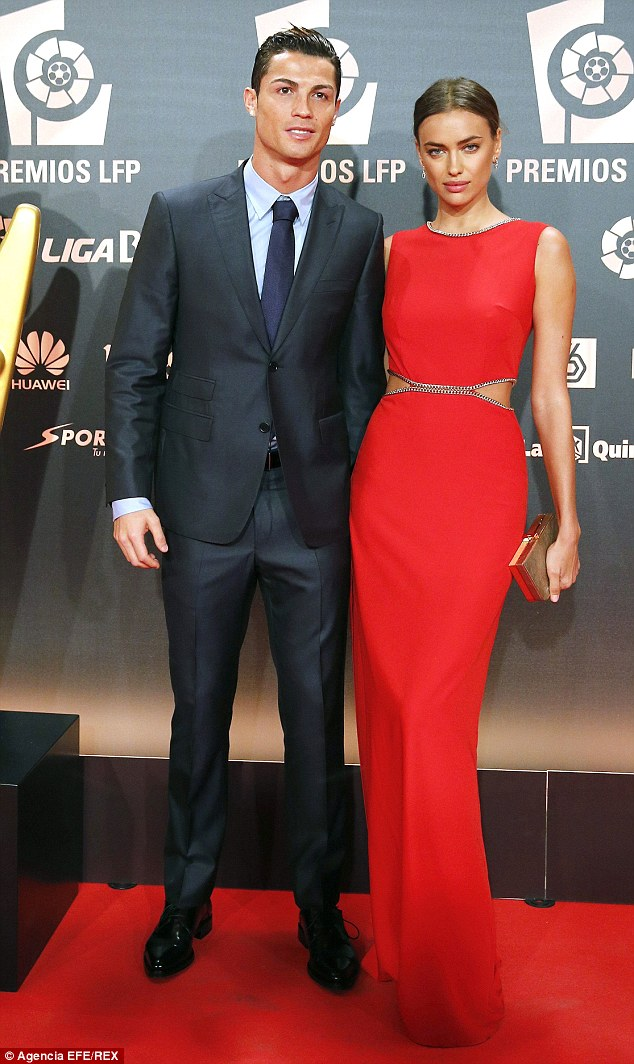 Split: Cristiano Ronaldo (left) confirmed that he and Irina had split after five years on January 21